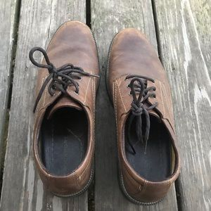 Worn in leather men's shoes